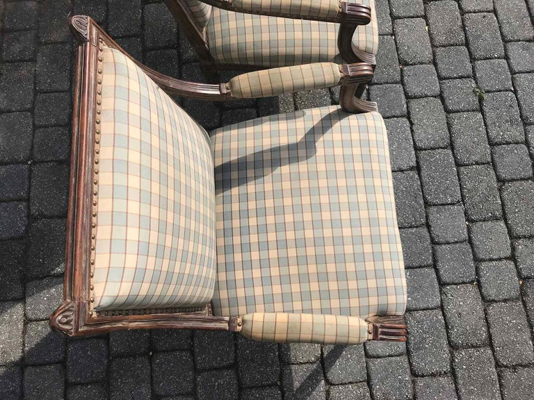 Pair of Late 19th-Early 20th Century Louis XVI Armchairs For Sale 5