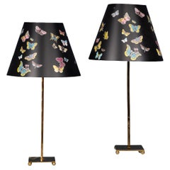 Pair of Late 20th Century Italian Table Lamps by Fornasetti