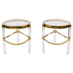 Pair of Late 20th Century Regency Style Charles Hollis Jones Side Tables