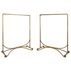 A Pair of Late Art Nouveau Brass Clothes Racks, circa 1920