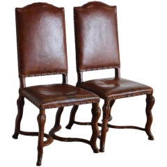 Pair of Late 18th Century Italian Side Chairs