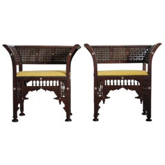 Pair of Late 19th Century Moorish Armchairs