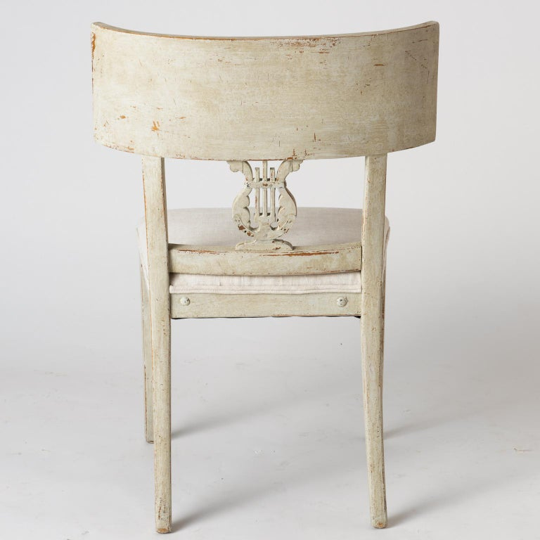 Pair of Late Gustavian Period Swedish Klismos Chairs, circa 1815 For Sale 6