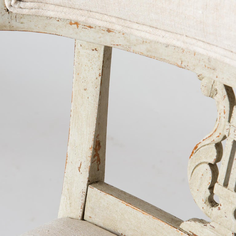 Pair of Late Gustavian Period Swedish Klismos Chairs, circa 1815 For Sale 1