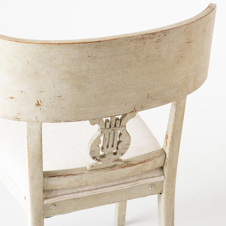 Pair of Late Gustavian Period Swedish Klismos Chairs, circa 1815 For Sale 2