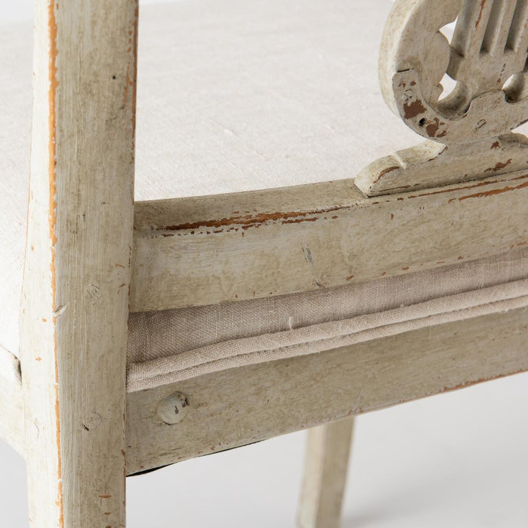 Pair of Late Gustavian Period Swedish Klismos Chairs, circa 1815 For Sale 3