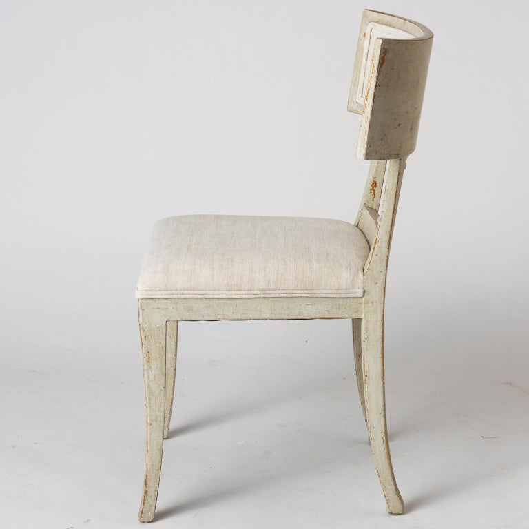 Pair of Late Gustavian Period Swedish Klismos Chairs, circa 1815 For Sale 4