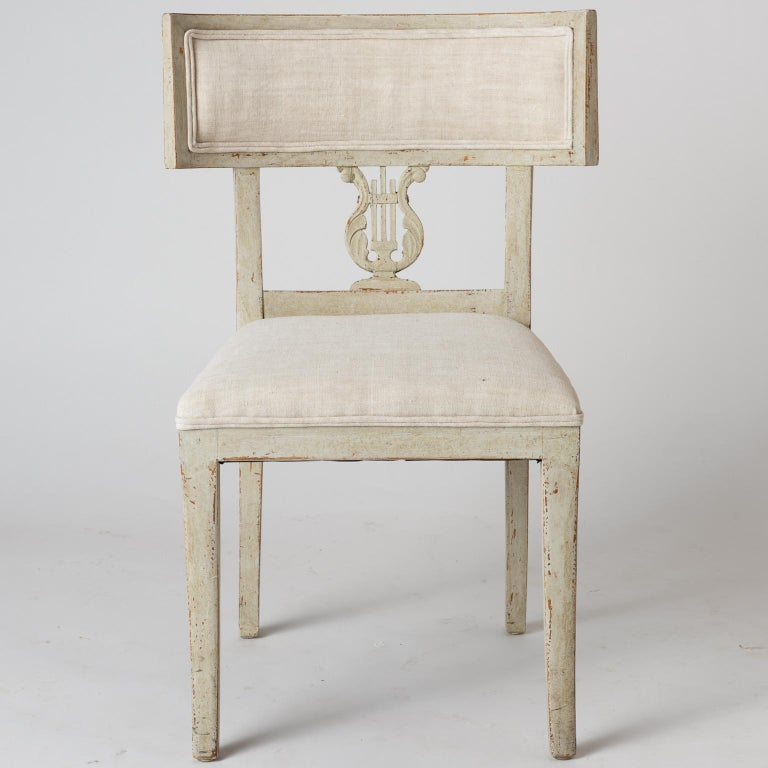 Pair of Late Gustavian Period Swedish Klismos Chairs, circa 1815 For Sale 5
