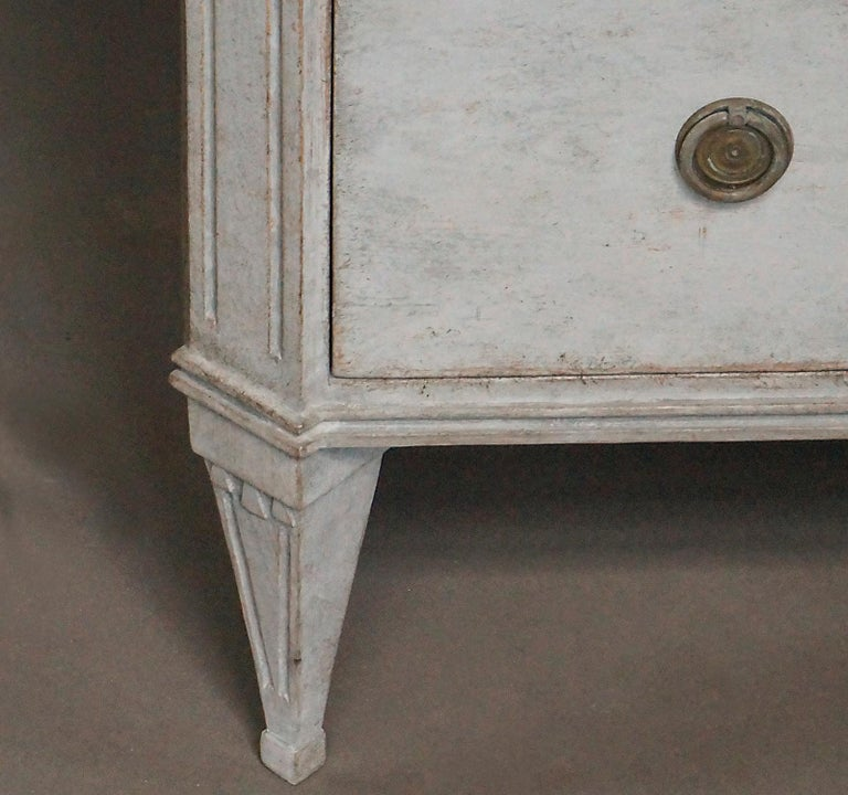 Wood Pair of Late Gustavian Style Chests of Drawers For Sale