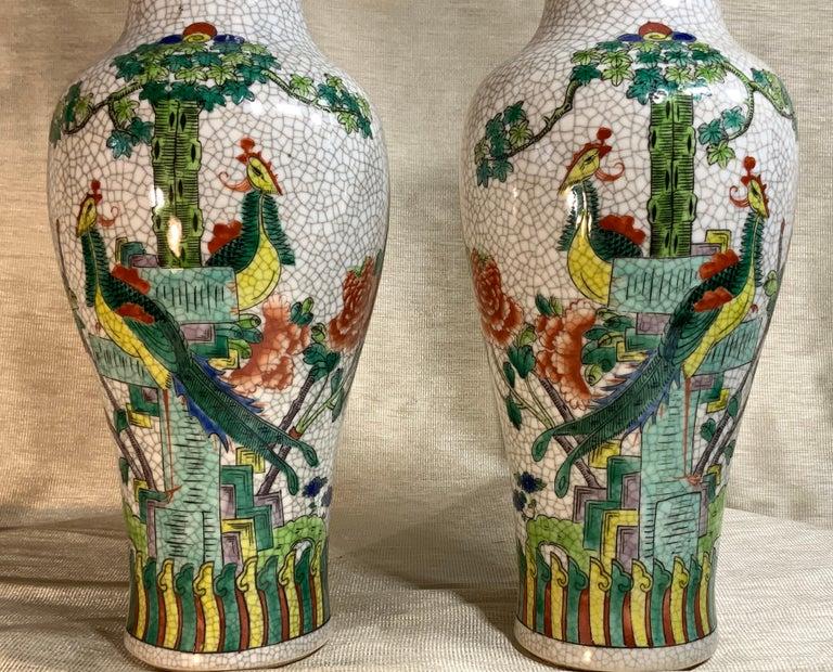 Pair of Late Republic Porcelain Vases For Sale 5