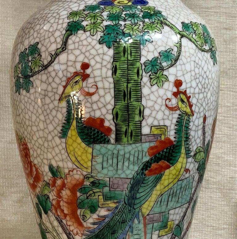 Pair of Late Republic Porcelain Vases For Sale 6