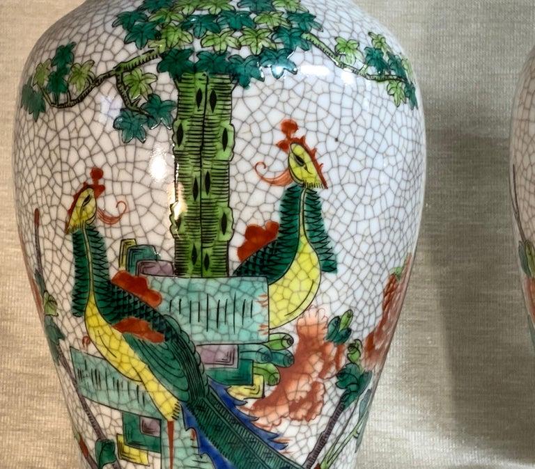 Pair of Late Republic Porcelain Vases For Sale 7