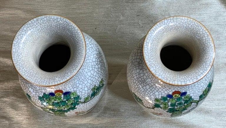Pair of Late Republic Porcelain Vases For Sale 8