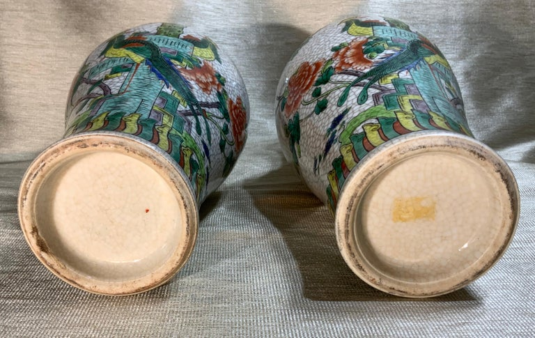 Pair of Late Republic Porcelain Vases For Sale 9