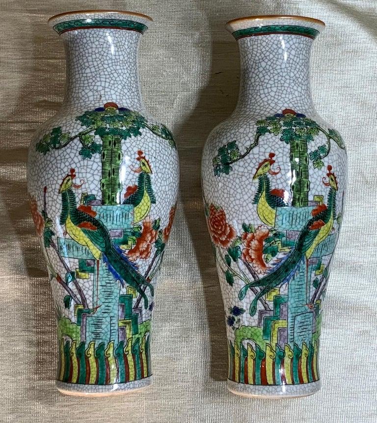 Pair of Late Republic Porcelain Vases For Sale 10