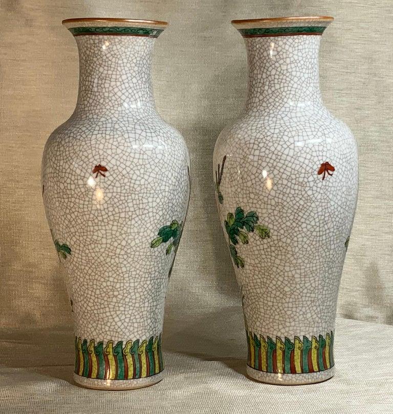 20th Century Pair of Late Republic Porcelain Vases For Sale