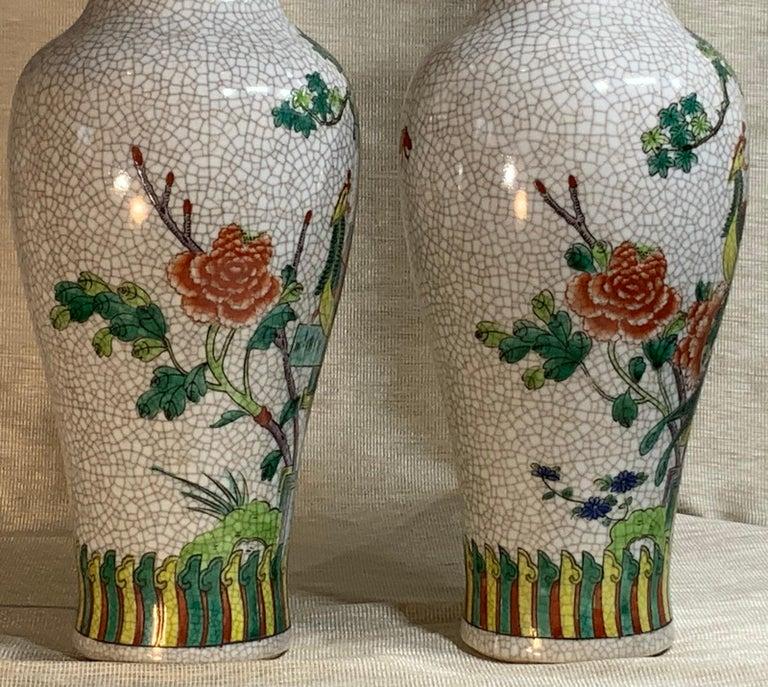 Pair of Late Republic Porcelain Vases For Sale 3