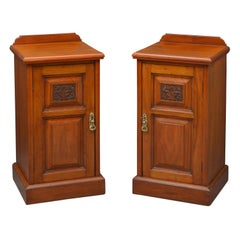 Pair of Late Victorian Bedside Cabinets in Walnut