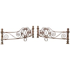 Pair of Late Victorian Curved Ironwork Pieces