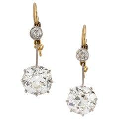 Pair of Late Victorian Diamond Drop Earrings