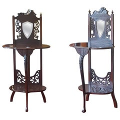 Pair of Late Victorian Mahogany Bedside Tables