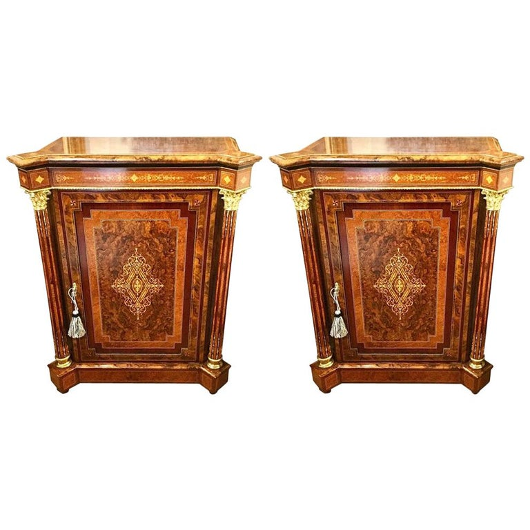 Pair of Late Victorian Side Cabinets, circa 1880 For Sale