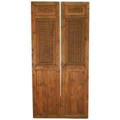 Pair of Lattice Panels