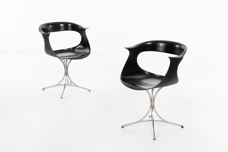 """Mid-Century Modern Pair of Laverne """"Lotus"""" Chairs For Sale"""