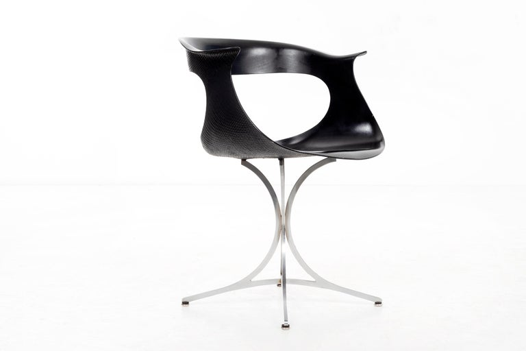 """Pair of Laverne """"Lotus"""" Chairs In Good Condition For Sale In Chicago, IL"""
