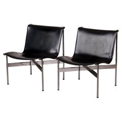 "Pair of Laverne ""New York"" Leather Lounge Chairs"