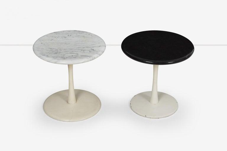 Polished Pair of Laverne Stem Tables For Sale