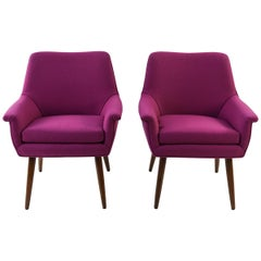 Pair of Lawrence Peabody for Selig Style Lounge Chairs