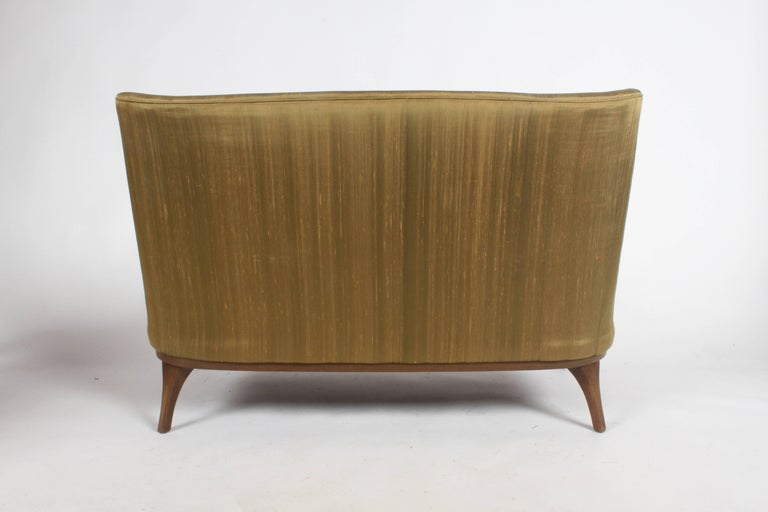 Pair of Lawrence Peabody Midcentury Loveseats, Settees or Sofas For Sale 5