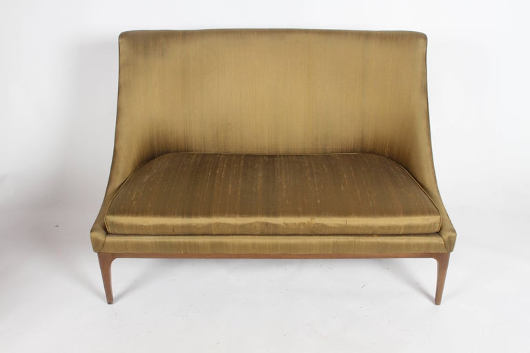 Mid-20th Century Pair of Lawrence Peabody Midcentury Loveseats, Settees or Sofas For Sale