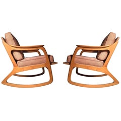 Pair of Lawrence Peabody Rocking Chairs