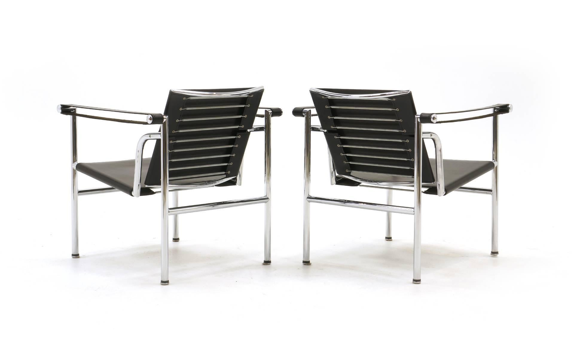 Italian Pair Of LC1 Chairs Designed By Le Corbusier, Produced By Gavina For  Sale