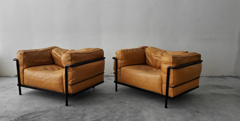 Pair of LC3 Cassina Grand Modele Down Armchairs by Le ...