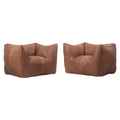 Pair of Le Bambole Lounge Armchairs B&B Italia, 1970s by Mario Bellini