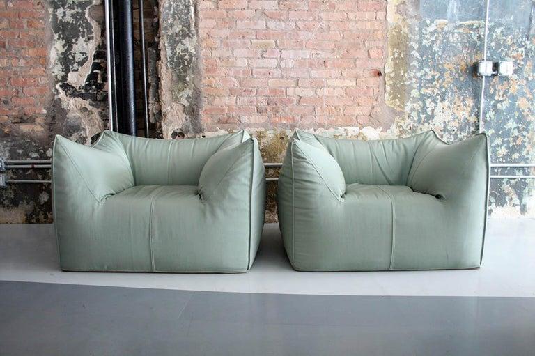 Italian Pair of Le Bambole Lounge Armchairs B&B Italia by Mario Bellini For Sale