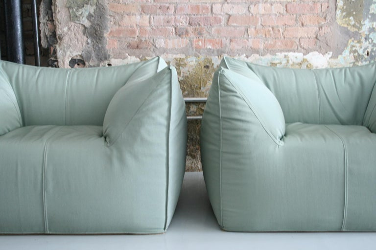 20th Century Pair of Le Bambole Lounge Armchairs B&B Italia by Mario Bellini For Sale