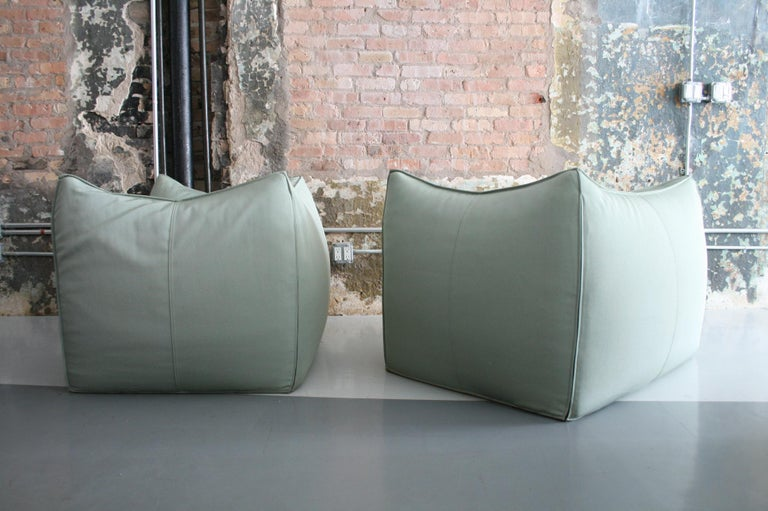 Canvas Pair of Le Bambole Lounge Armchairs B&B Italia by Mario Bellini For Sale
