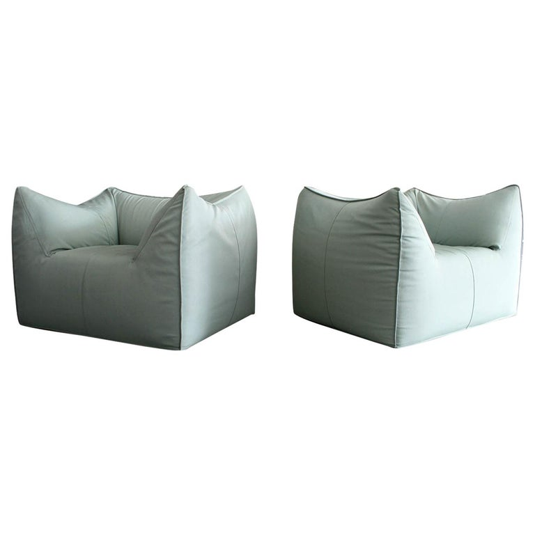 Pair of Le Bambole Lounge Armchairs B&B Italia by Mario Bellini For Sale