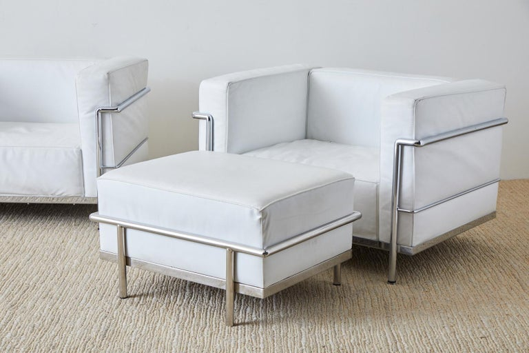 Pair of Le Corbusier LC3 Style Lounge Chairs For Mobelaris 5