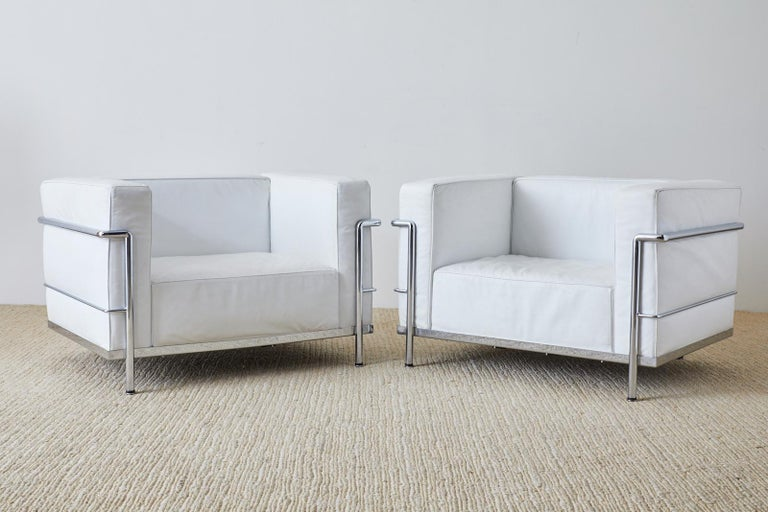 Pair of Le Corbusier LC3 Style Lounge Chairs For Mobelaris 2