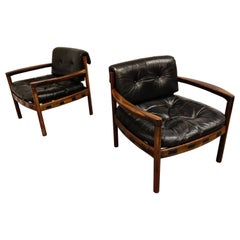 Pair of Leather Armchairs by Sven Ellekaer for Coja, 1960s