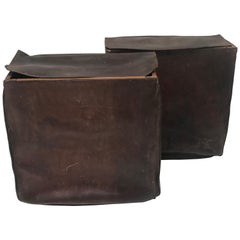 Pair of Leather Bags, Baskets