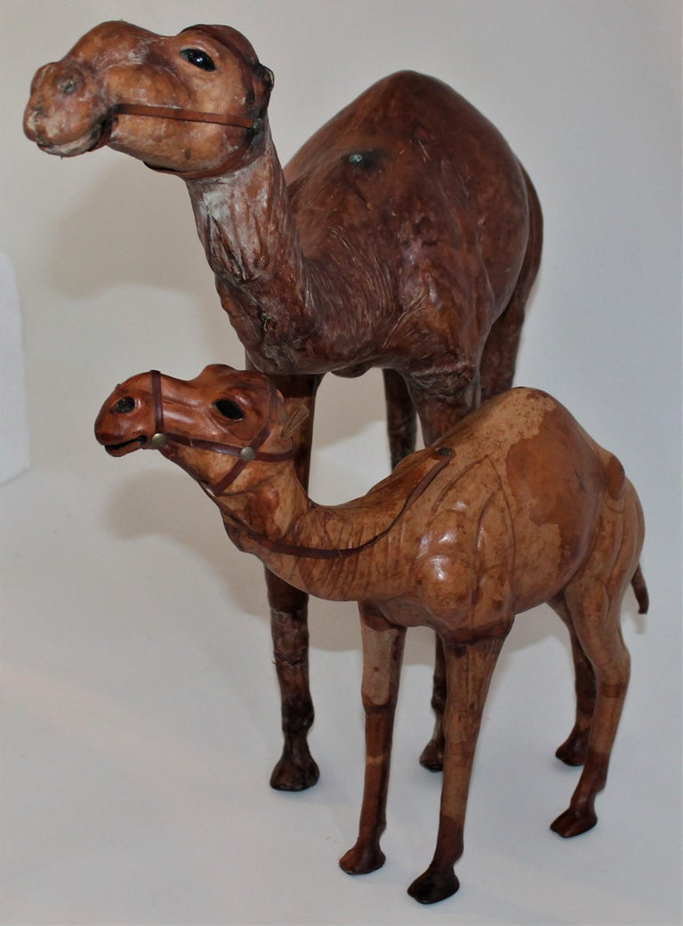 American Pair of Leather Camels For Sale