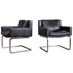 Pair of Leather Chairs by Robert Haussmann for Stendig