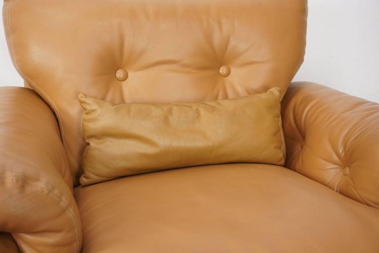 Pair of Leather Coronado Armchairs Design Afra & Tobia Scarpa for B&B Italia For Sale 9