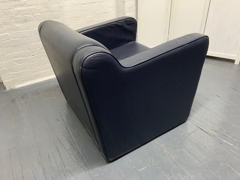 Pair of Leather 'Speed' Lounge Chairs For Sale 2